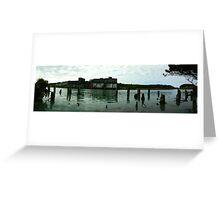 THE OLD DOCK, PATEA RIVER, PATEA, TARANAKI, NEW ZEALAND  Greeting Card
