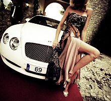 Sensual young lady 69 Sixty Nine Bentley sports car Marbella by edwardolive
