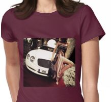 Sensual young lady 69 Sixty Nine Bentley sports car Marbella Womens Fitted T-Shirt