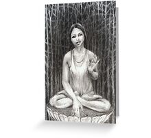 Bodhisattva of the Woods Greeting Card
