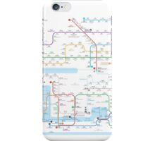 Hong Kong-Shenzhen metro map  iPhone Case/Skin