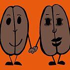 Mr and Mrs Coffee Bean by Anne van Alkemade