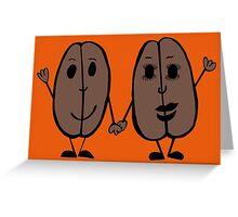 Mr and Mrs Coffee Bean Greeting Card