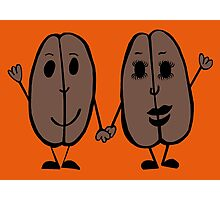 Mr and Mrs Coffee Bean Photographic Print