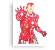 Iron Man Watercolour Illustration Painting Canvas Print