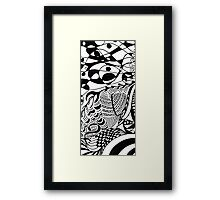 Ornaments black&white Framed Print