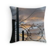 SKY BEYOND THE FENCE Throw Pillow