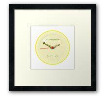 THE LEMON WATCH Great Yellow Framed Print