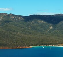 Wineglass Bay and Mount Amos, Freycinet National Park, Tasmania by Roger Barnes