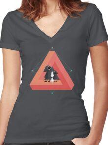 Penrose Kingdom Women's Fitted V-Neck T-Shirt