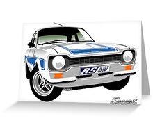 Ford Escort mk 1 RS1600 white Greeting Card