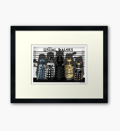 The Usual Daleks Framed Print