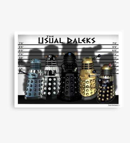 The Usual Daleks Canvas Print