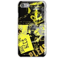 please save the bees iPhone Case/Skin