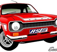 Ford Escort mk 1 RS1600 red by car2oonz