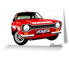 Ford Escort mk 1 RS1600 red Greeting Card