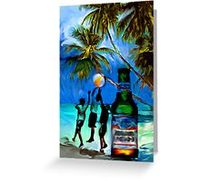 Beach,Breeze,Ball,Boys,Beer By Buzzy~ Greeting Card