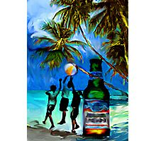 Beach,Breeze,Ball,Boys,Beer By Buzzy~ Photographic Print