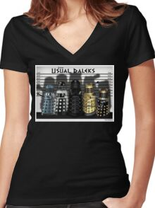 The Usual Daleks Women's Fitted V-Neck T-Shirt