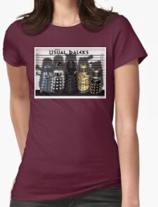 The Usual Daleks Womens Fitted T-Shirt