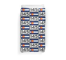 Colorado State Highway 145 Duvet Cover