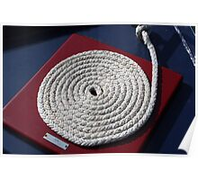 Coiled Rope on Narrow Boat Poster