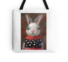 White Rabbit Girl Tote Bag