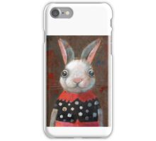 White Rabbit Girl iPhone Case/Skin