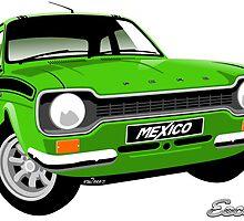 Ford Escort mk 1 Mexico green by car2oonz