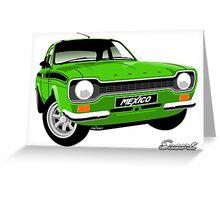 Ford Escort mk 1 Mexico green Greeting Card