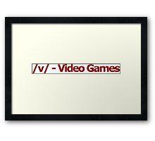 /v/ - Video Games 4chan Logo Framed Print
