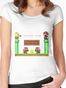 Doodle X Mario Women's Fitted Scoop T-Shirt