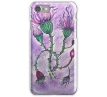 Purple Floral Ilustration  iPhone Case/Skin