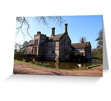 Baddesley Clinton in the spring sunshine Greeting Card