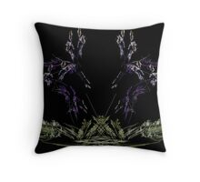lavender grass Throw Pillow