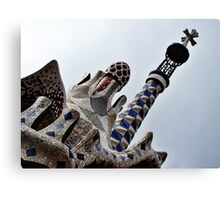 Gaudi Roofs Canvas Print