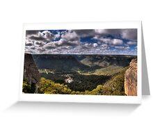 Wolgan Valley - HDR Panorama Greeting Card