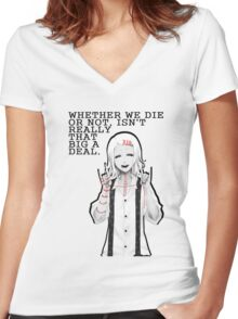Death (Tokyo Ghoul) By Tokyo_Fool Women's Fitted V-Neck T-Shirt