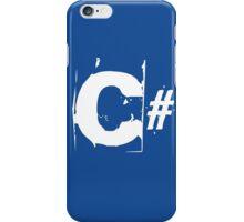 C# in white iPhone Case/Skin