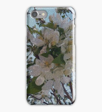 white blossoms, tree art, impressionism painting iPhone Case/Skin