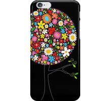 Whimsical Colorful Spring Flowers Pop Tree iPhone Case/Skin