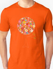 Whimsical Colorful Spring Flowers Pop Tree Unisex T-Shirt