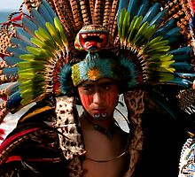 Native Male Mexican Indian Dancer by Swede