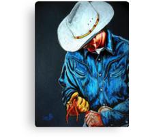 Chisholm...Portrait Of A Cowboy Canvas Print