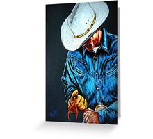 Chisholm...Portrait Of A Cowboy Greeting Card
