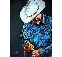 Chisholm...Portrait Of A Cowboy Photographic Print