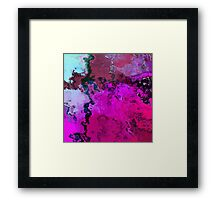 Purple Blue Abstract Texture Noise Framed Print