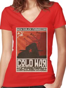 Cold Time War Women's Fitted V-Neck T-Shirt