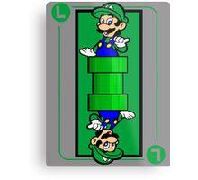 Plumber card Metal Print