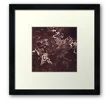Dark Brown Abstract Texture Noise Framed Print